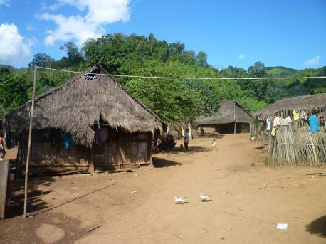 Welcome to Ban Sop Tiek village! No electricity, just 1 open shower for the village and 1 toilet